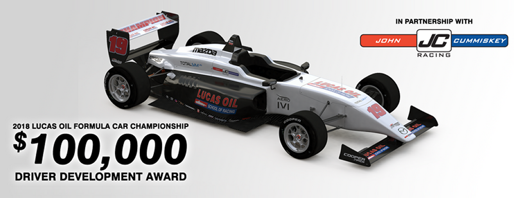 Lucas Oil School of Racing announces $100,000 Driver Development Award for Champion, partnership with JCR